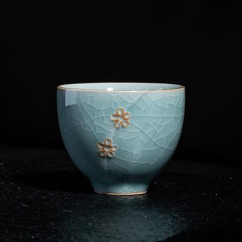 xigu 熹谷  龙泉青瓷 哥窑梅花杯