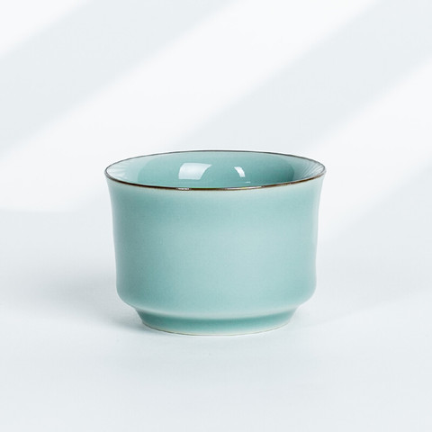 xigu 熹谷 龙泉青瓷茶杯 粉青釉马蹄杯