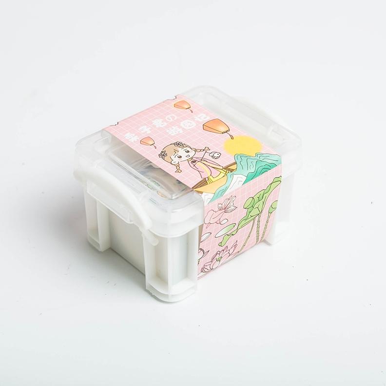 yoofun 优凡文具 YFZ-954 栗子君收纳盒式 手账贴纸套装 多款可选