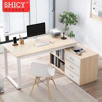 SHICY 实采 实采(SHICY)转角电脑桌台式家用简约现代钢木办公桌卧室学生学习写字书桌 多尺寸可选 140cm 右