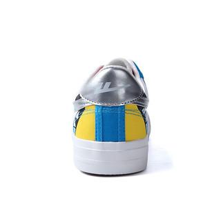 WARRIOR 回力 中性运动板鞋 WXYA109T 花布银/蓝 38