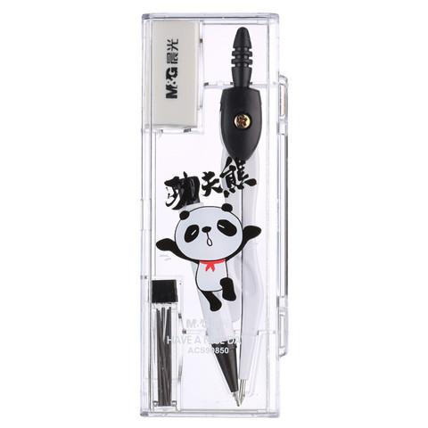 M&G 晨光 晨光(M&G)文具圆规套装 熊猫哈鲁系列学生绘图考试圆规(附赠橡皮+0.7mm铅芯)ACS90850