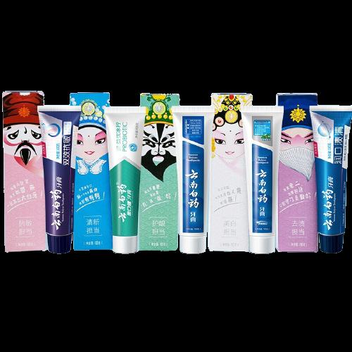 YUNNANBAIYAO 云南白药 益优系列国粹定制牙膏礼盒装 100g*5