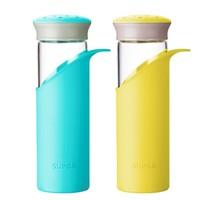 18点开始:SUPOR 苏泊尔 耐热玻璃 杯子  蓝色黄色随机发1个
