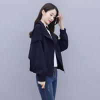 丝柏舍 春装新款时尚减龄简约长袖显瘦短款休闲外套女