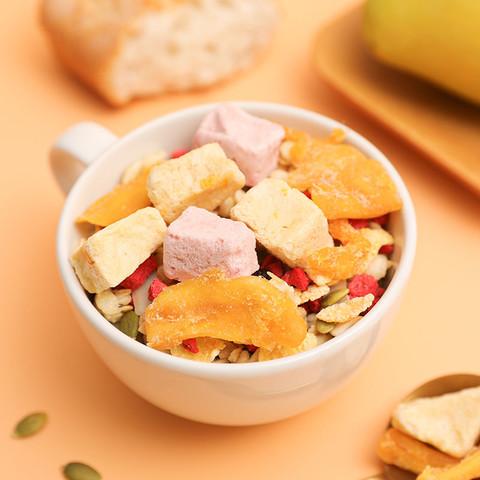 好麦多酸奶水果麦片2袋共600g 奇亚籽果粒燕麦片干吃早代餐饱腹