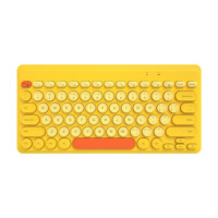 B.O.W 航世 K-610 79键 无线键盘 柠檬黄