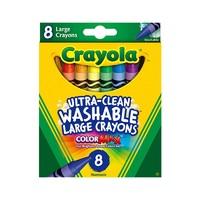20日0点:Crayola 绘儿乐 52-3280 可水洗彩色大蜡笔 8色