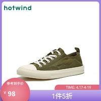 hotwind 热风 H45M0770 男士帆布休闲鞋