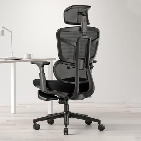 HBADA 黑白调 智享 人体工学护腰椅 52*52*54cm