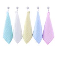 grace 洁丽雅 W0832-65A 婴儿纯棉口水巾 高密纯色款 5条装