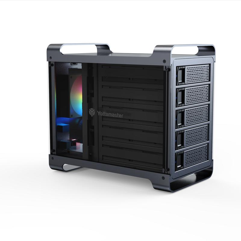 Yottamaster Y-Defender DF5RU3  2.5/3.5英寸五盘位磁盘阵列柜