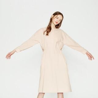 ME&CITY mecity女装文艺小清新腰部抽绳系带连衣裙