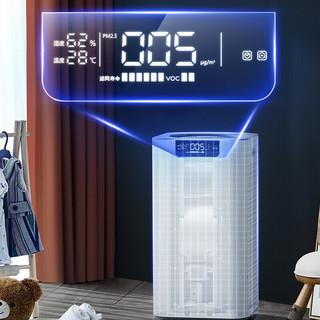 美国舒乐氏(SOLEUSAIR)空气净化器 除雾霾除甲醛 除过敏原除细菌 家用卧室婴儿自动强净化 A03