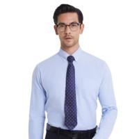 MatchU 码尚 男士长袖衬衫 心叶草蓝