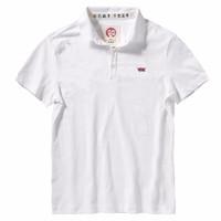 上纺拾柒棉 男士短袖POLO衫 FTABC7056 白色 XL
