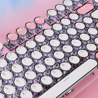 AJAZZ 黑爵 元气双拼 104键 有线机械键盘