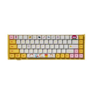 Akko 艾酷 3068 哆啦美 68键 蓝牙双模无线机械键盘 黄色 AKKO蓝轴 RGB