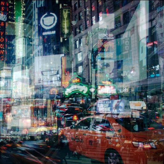 PICA Photo 拾相记 罗马艺术家 阿莱西奥·特雷罗托雷 作品《不夜纽约》28x33 内衬装裱