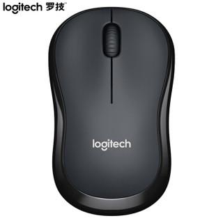 罗技(Logitech)M220 鼠标 无线鼠标 办公鼠标 静音鼠标 对称鼠标 灰黑色 带无线2.4G接收器