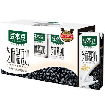 SOYMILK 豆本豆 芝麻黑豆奶 250ml*12盒/箱