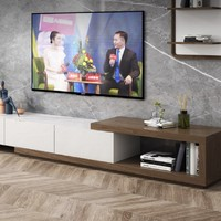 AHOME A家家具 DB1406 简约拼色可伸缩电视柜