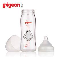 Pigeon 贝亲 贝亲Pigeon迪士尼奶瓶宽口径玻璃奶瓶240ml配L奶嘴(大白-经典)