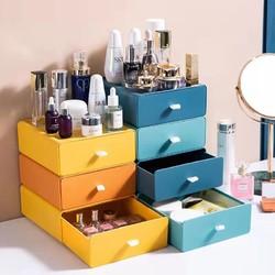 3 桌面收纳盒抽屉式化妆品置物架储物小柜办公室学生书桌上整理盒子