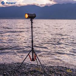 Fotopro 富图宝 富图宝(Fotopro)TR-01C 便携反折碳纤维三脚架摄影棚支架拍照LED主播灯架影室灯三脚架