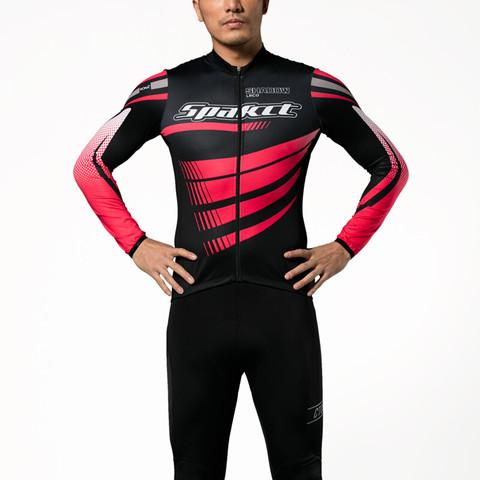 SPAKCT 思帕客 思帕客Spakct 幻影感恩版长袖骑行服套装男士夏季自行车山地春秋S18C03/S17T16 幻影长袖套装-黑红 3XL