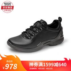 ecco 爱步 ECCO秋季运动女鞋系带跑步鞋健步鞋 健步活力健身系列 Biom Fjuel837513 01001-黑色 39