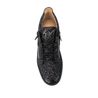 FARFETCH 发发奇 Giuseppe Zanotti男士金葱拉链细节板鞋 黑色 IT39.5