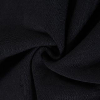 李宁 时尚休闲新疆棉男上衣开衫立领无帽运动外套 标准黑 2XL
