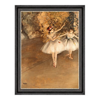 雅昌 埃德加·徳加《两个芭蕾舞女》54×69cm 装饰画 油画布