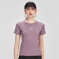 CAMEL 骆驼 骆驼户外夏季新款短袖女士修身显瘦跑步上衣气质性感透气健身T恤