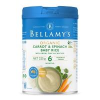 BELLAMY'S 贝拉米 婴幼儿有机高铁米糊 225g