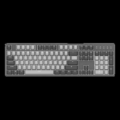 DURGOD 杜伽 TAURUS K310 104键 有线机械键盘 深空灰 Cherry静音红轴 单光