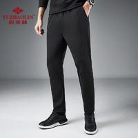 YUZHAOLIN 俞兆林 休闲直筒裤 黑色 2XL