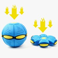 liers 乐尔思 蓝色飞碟变形球 解压玩具