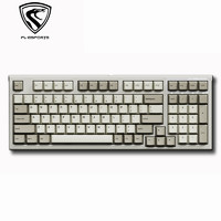 FL·ESPORTS 腹灵 FL980 CPS 98键 有线机械键盘 白轴 复古经典灰白配色
