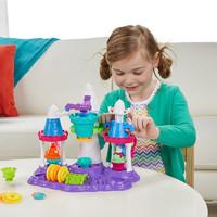 Play-Doh 培乐多 培乐多彩泥冰激凌城堡套装安全橡皮泥粘土模具学生儿童手工玩具