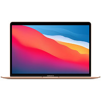 Apple 苹果 MacBook Air 13.3英寸 新款八核M1芯片(7核图形处理器)笔记本电脑_金色,官网标配八核M1芯片8G 512G