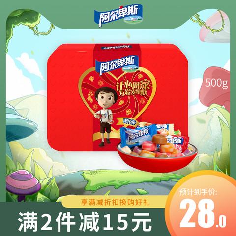 Alpenliebe 阿尔卑斯 阿尔卑斯新年硬糖糖果混合口味水果糖送礼