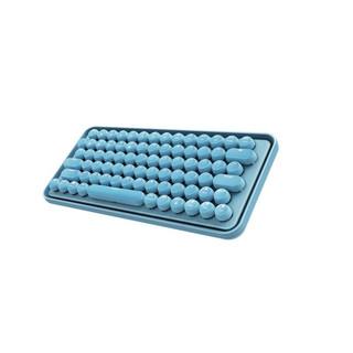 雷柏 ralemo Pre 5 无线蓝牙机械键盘 乐萌办公键盘 充电键盘 Mac电脑键盘 笔记本键盘 蓝色 青轴