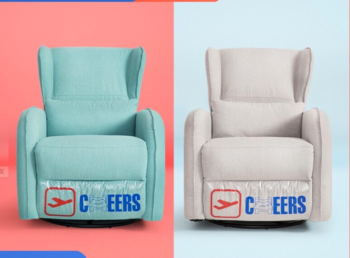 芝华仕 头等舱沙发 布艺单人沙发椅懒人躺椅客厅多功能沙发床小户型 K275 莫兰迪灰 15天内发货