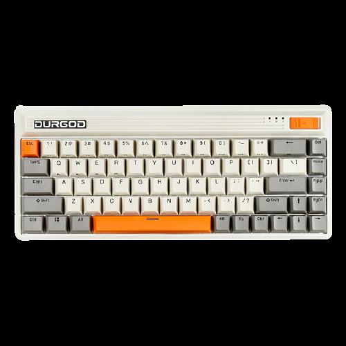 DURGOD 杜伽 FUSION 68键 多模无线机械键盘 复古白 Cherry银轴 无光