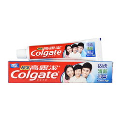 Colgate 高露洁 超强防蛀牙膏 固齿清新美白 90g/支