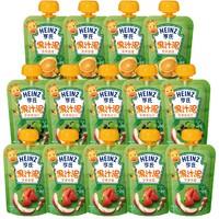 Heinz 亨氏 婴儿小绿包水果果汁泥 14袋