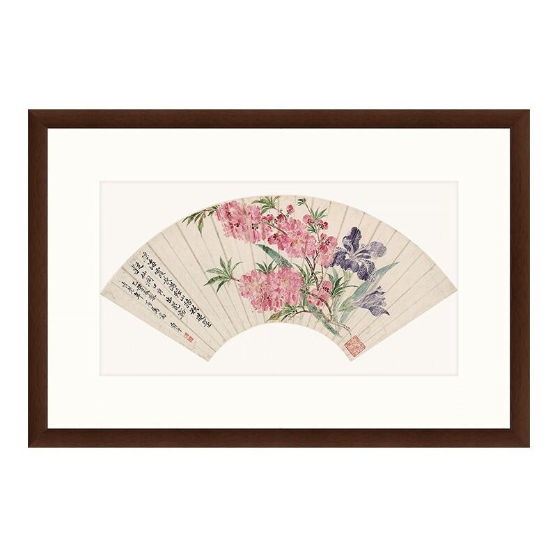 雅昌 恽寿平《桃花图》中式装饰画 77×52cm 挂画 宣纸
