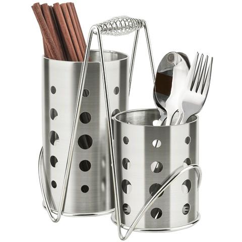 家用不锈钢筷子筒双筒筷子笼